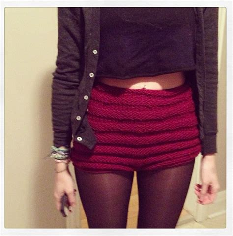 free pattern high waisted shorts scarffaces knit shorts