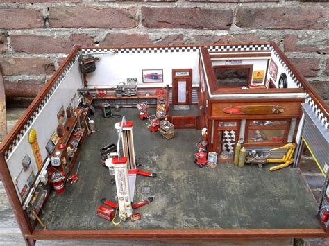Model Car Garage Diorama Accessories by Garage Diorama Fully Detailed And Fully Scratch Build