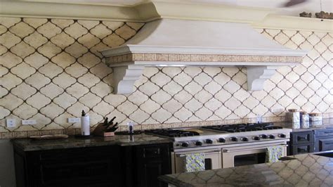 Kitchen Backsplash Tile Ideas Subway Glass Arabesque Shape Tile Kitchen Backsplash Ideas