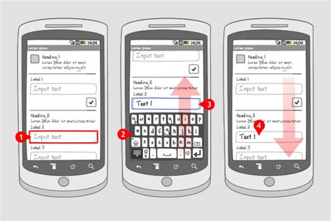 android layout design patterns soft keyboard pan scan android interaction design