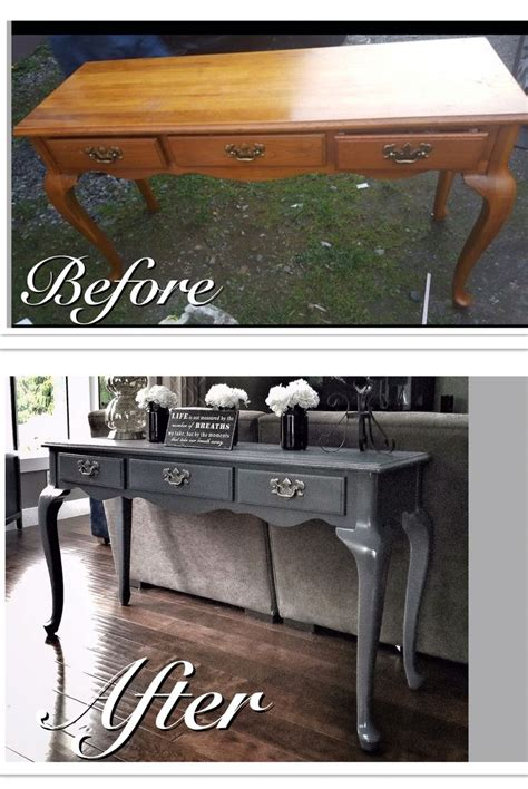 grey sofa table before after run sofa table refinished in a mod