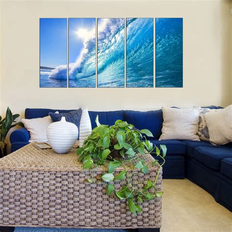 remodelaholic beach themed living room ocean theme wall art beach style living room new beach