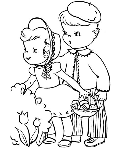 easter coloring pages for kids holiday coloring pages