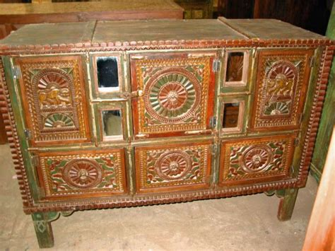 Handcrafted Furniture India - handmade wooden sideboard antique cabinet indian furniture