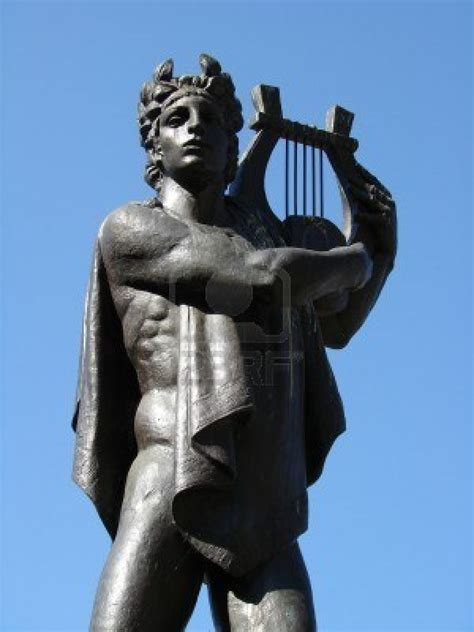greek god statue the sacred songs of orpheus series ii from the moon to