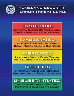 terror threat level colors the mad professah lectures color coded threat level chart