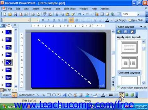 tutorial powerpoint 2003 romana powerpoint 2003 tutorial inserting lines arrows