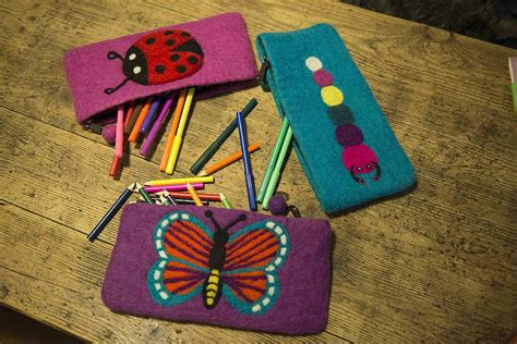 Handmade Pencil Cases - handmade felt animal pencil cases by felt so