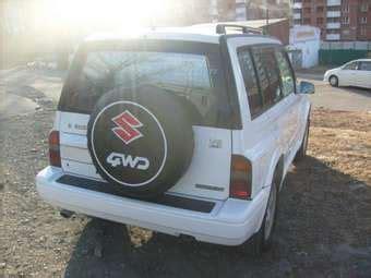 1996 suzuki escudo pictures, 1600cc., gasoline, automatic