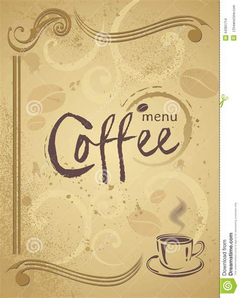 template of menu background design for cafe or restaurant eps