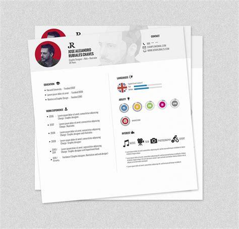 Plantilla De Curriculum Vitae Moderno 2014 plantilla psd para curriculum vitae gratuita