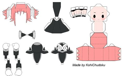 Papercraft Template - paper crafts anime templates and
