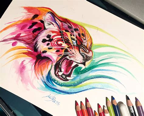 Colored Drawings 50 Inspiring Color Pencil Drawings Of Animals By Katy by Colored Drawings