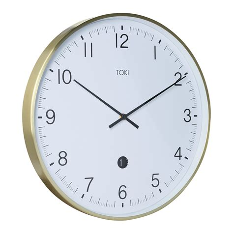 buy luca white 40cm silent wall clock online purely wall clocks buy toki mina brushed gold silent sweep wall clock with