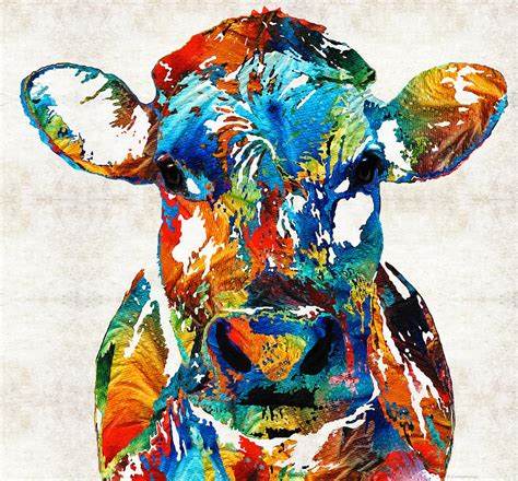 colorful cow painting colorful cow mootown by painting