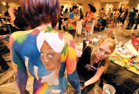 bodypainting chionships las vegas if you paint it they will come las vegas sun newspaper