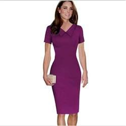 2015 new uk brand office dresses elegant fashion evening