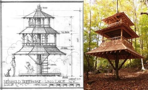 home design a japanese style house with pagoda roof in luderowski architect s gorgeous pyramidal treehouse rises