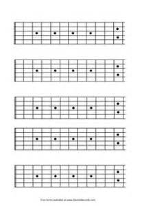 Printable Guitar Fretboard Template by Blank Guitar Fretboard Diagrams Guitar Files