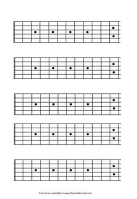 blank guitar fretboard diagrams guitar files pinterest