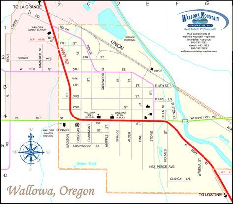 map of joseph oregon wallowa oregon wallowa mountain properties wallowa