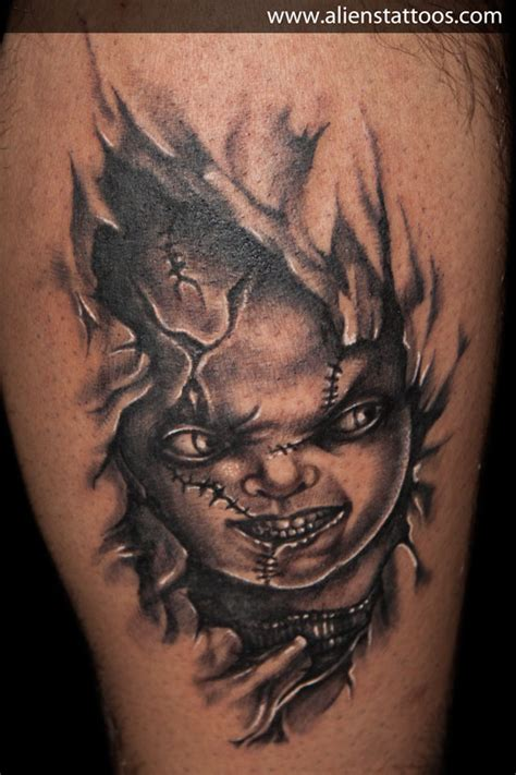chucky with knife tattoo www pixshark com images