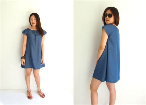 jeans dress pattern free japanese sewing pattern with translations denim