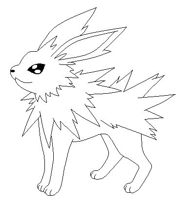 pokemon coloring pages jolteon jolteon lineart by poke lines on deviantart