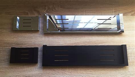 ettore square polished chrome bathroom shower shelf