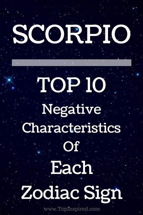 top 10 negative characteristics of each zodiac sign
