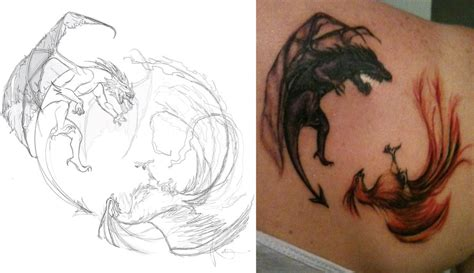 dragon and phoenix tattoo designs 51 tattoos designs with meanings