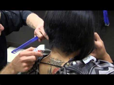 female haircutting videos clipper short sexy a line bob womens haircut video youtube