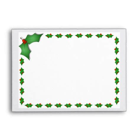 printable envelope borders christmas holly border new calendar template site
