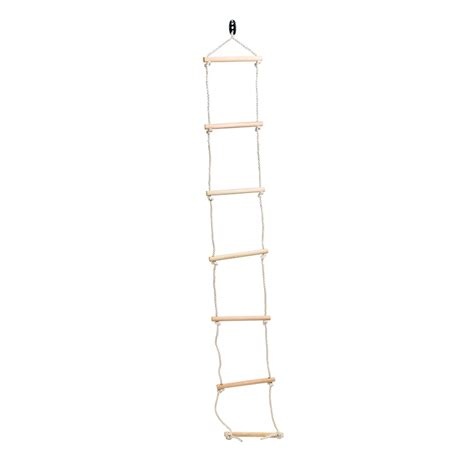 swing ladder swing slide climb 2080mm climbing rope with wooden rung ladder