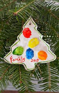 fingerprint christmas tree salt dough ornament easy