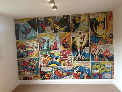 Marvel Bedroom Wallpaper Photos And Video | marvel comic wallpaper ronnie s bedroom