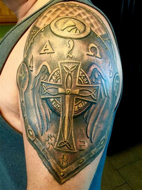 cross shield tattoo pin by joshua forrester on