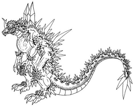 space godzilla coloring pages space godzilla free colouring pages