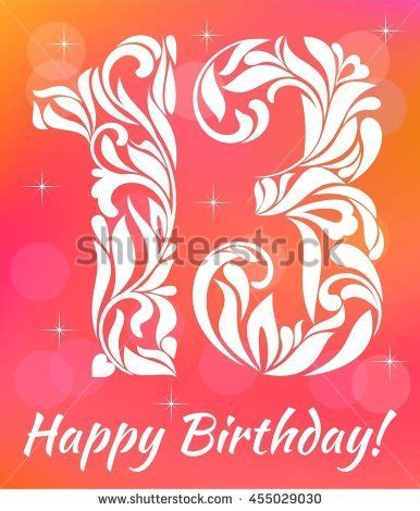 13 birthday card template 13th birthday stock images royalty free images vectors