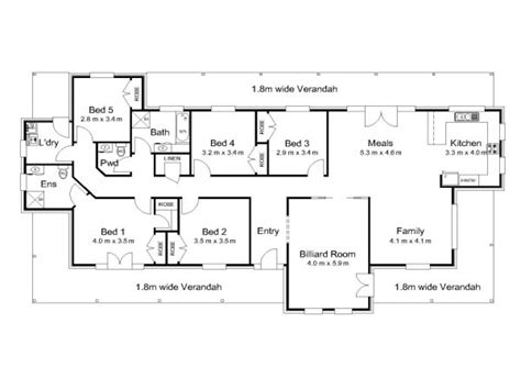 australian house floor plans modern 5 bedroom house plans 5 bedroom house plans