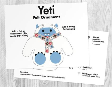 felt yeti pattern 43 best images about christmas projects on pinterest