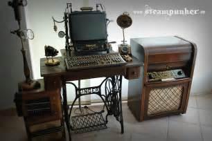 Under Cabinet Tv Radio Steampunk Computer Desk