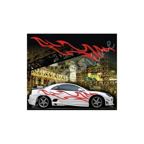lada effetto fiamma adesivi auto tuning decalcomanie car stickers fiamma 13