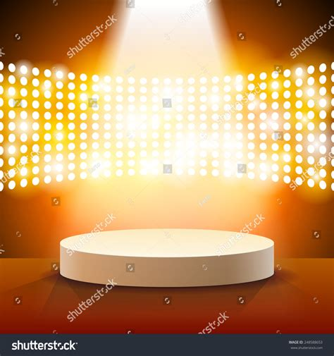 free stage background design vector stage lighting background spot light effects stock vector