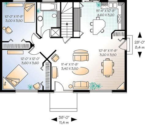 simple  bedroom house plan dr architectural designs house plans