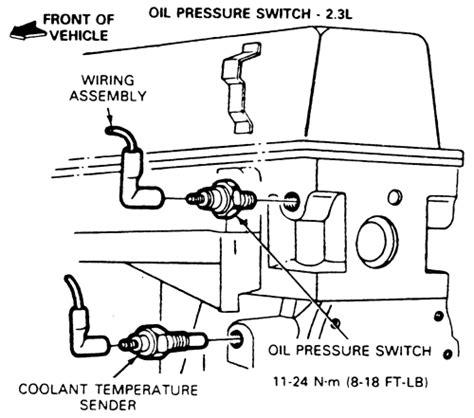 2001 2 5l pressure sending unit thread size ranger