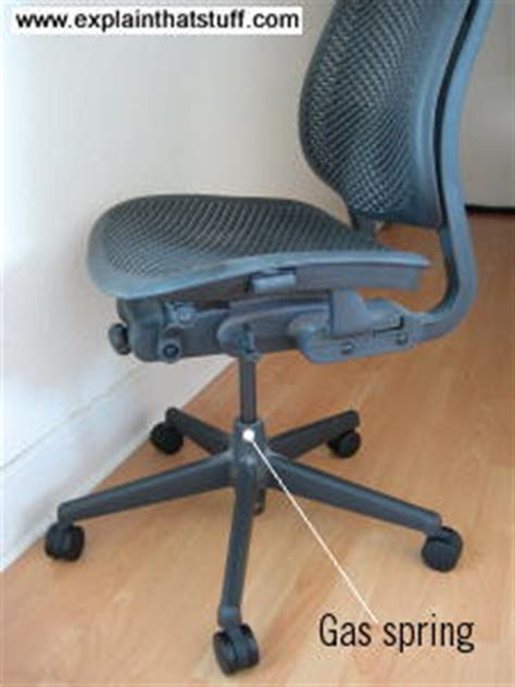 office chair cylinder explosion how gas springs work explain that stuff