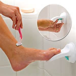 suction cup shower foot rest craziest gadgets