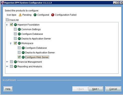 configure xp as web server berke 214 z oracle hyperion hfm applications and menu item