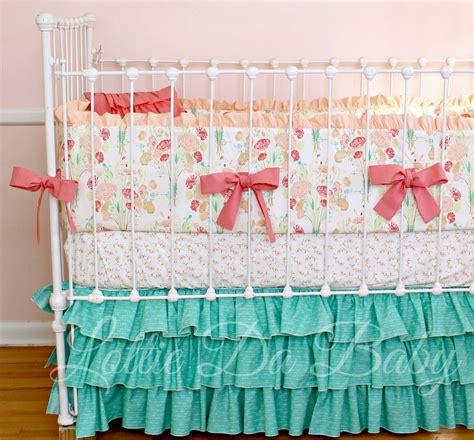 baby girl crib bedding set reminisce jade by lottiedababy